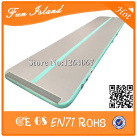 Free Shipping 5x1x0.2m Mint Green Inflatable Air Track Mat Gymnastics Airtrack For Sale