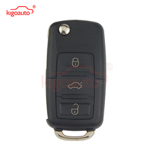 2buttons 434mhz remote key for skoda fabia superb octavia i 2002 2007 car key 1j0959753ag 1j0 1jo 959 753 ag with id48 chip Folding  Remote key HU66 3 button 434Mhz for VW 50W 1JO 959 753 N car key