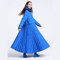 LANMREM 2018 Высокое качество Новая мода Большой Размеры платье Тип большой маятник зимняя куртка женские теплые Overlength пальто YE854 5XL