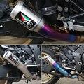 Titanium hecha a mano material de conversión del sistema de escape de la motocicleta para yamaha r1 yzf r1 2009 2010 2011 2012 2013 2014