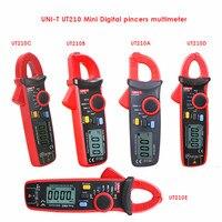 True RMS UNI T UT210A/B/C/D/E mini a multimeter digital multimeter dc voltimetro amperimertro UNI T UT 210E dc clamp multimeter