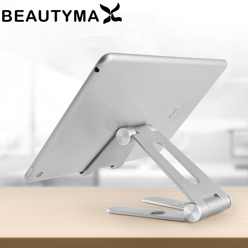 Giratoria de aleación de aluminio titular de la tableta para ipad air 1/2 mini 1/2/3/4/9,7 pro 10,5 12,9 plegable soporte para teléfono móvil