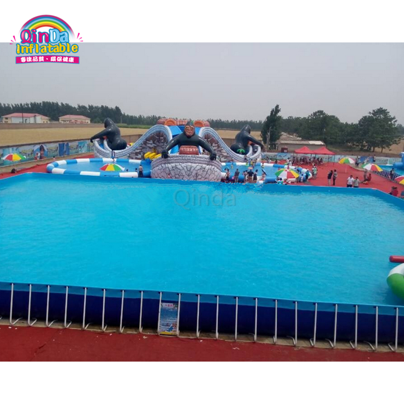 China supplier Above Ground Swimming Pool Frame Pool for Inflatable Amusement Park