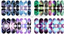 2016 Low Price Sale Fashion Scenery Nail Sticker Mixed 12 Colors DIY Art Nail Sticker