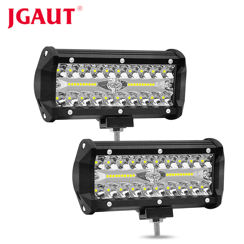 JGAUT 7 pouces 120 w 12000lm LED LAMPE de travail bar combo faisceau de voiture lumières de Conduite pour Hors Route camion 4WD 4x4 UAZ moto rampe 12V24V