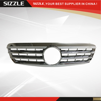 Plastic All Chrome Auto Front Grille For Mercedes S Class W220 2000 2002 CL Style