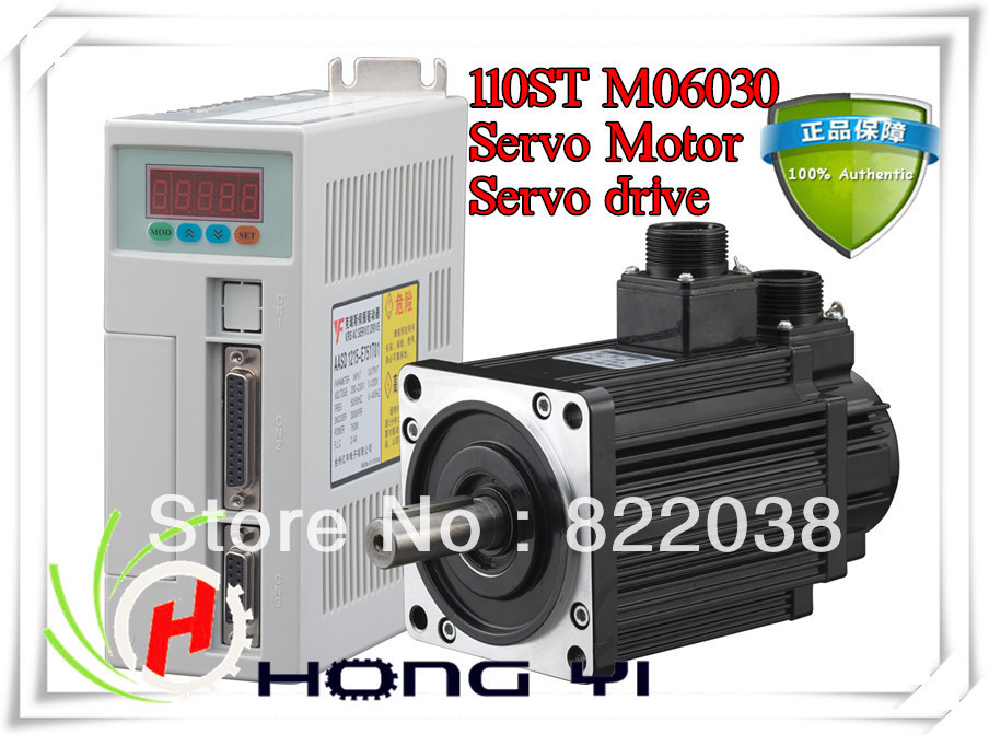 Best price great quality Servo system kit 6N.M 1.8KW 3000RPM 110ST AC Servo Motor 110ST-M06030 + Matched Servo Driver nema43 best price 6 0a 12nm 115mm