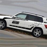 1 Set רכב מרוץ חשמל משאית אוטומטי ספורט צד גרפיקת כל גוף מותן הוד מדבקות מדבקה
