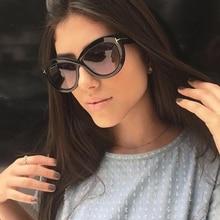 PAWXFB Vintage Celebrity Cat Eye Oversized Sunglasses Women Hand Made Eyeglasses High quality Sun glasses Shades