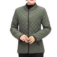 Chaquetas Mujer Abrigos 2019 Otoño Invierno algodón acolchado LParkas Chaqueta Mujer Jaqueta talla grande XL ~ 5XL Casaco señoras chaqueta corta