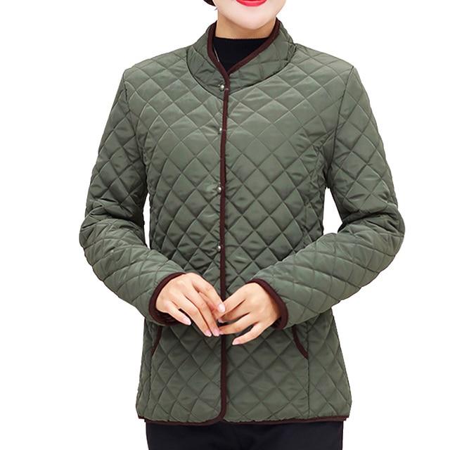 3057dee1884 Jackets Women Coats 2018 Autumn Winter Cotton-padded LParkas Chaqueta Mujer Jaqueta  Plus Size XL~5XL Casaco Ladies Short Jacket