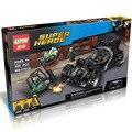 Бесплатная Доставка Игрушки строительные блоки Супер герой Криптонит Перехвата серии Bat колесница Совместимо 76045 мальчик Подарок