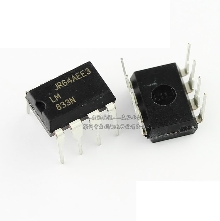 10PCS LM833N DIP8 LM833 DIP 833N DIP-8 New And Original IC