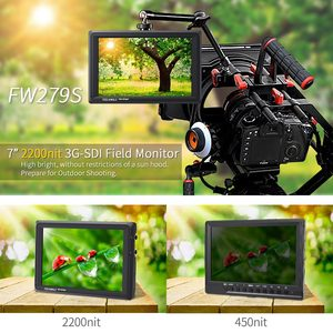 Image 2 - FEELWORLD FW279S 7 Inch 2200nit Daylight Viewable 3G SDI Mini HDMI on Camera DSLR Field Monitor  4K HDMI 1920X1200 for Outdoor