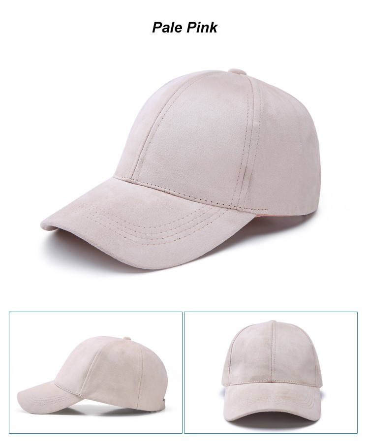 WEARZONE Unisex Soft Suede Baseball Cap Casual Solid Sports Hat Adjustable Breathable Dad Hats for Women Men 20
