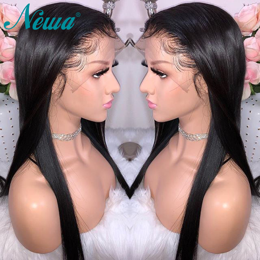 Newa Hair 360 Lace Frontal Wig Pre Plucked With Baby Hair Brazilian Straight Human Hair Wigs For Black Women Remy Hair Lace Wigs