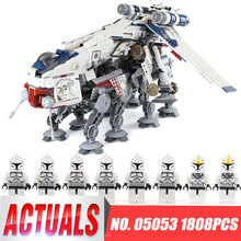 DHL 05053 Star Series Wars the Republic Drop-ship with AT-OT Walker Building Blocks Toy compatible LegoINGlys 10195