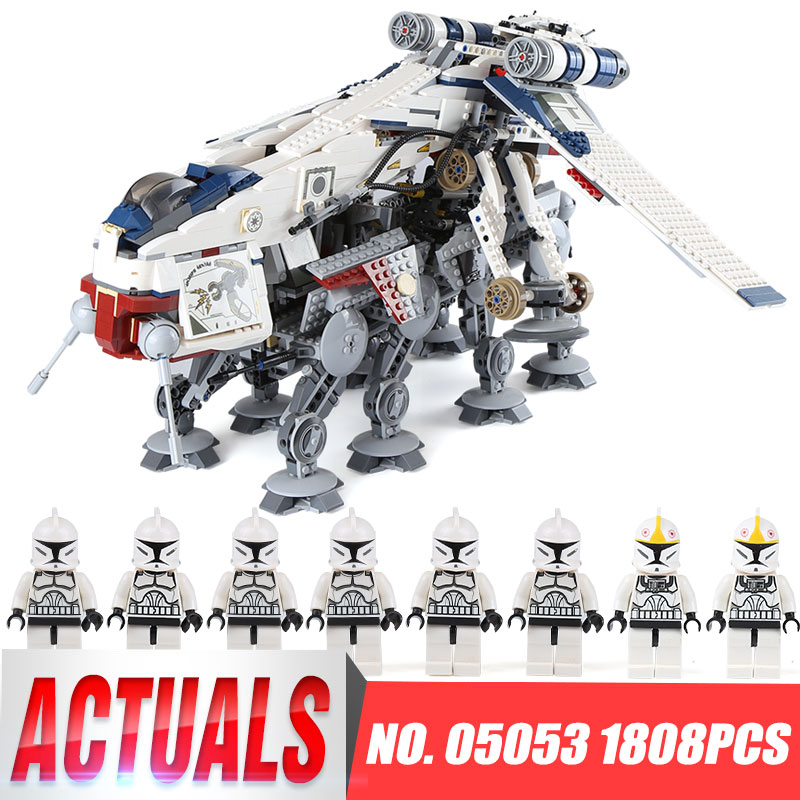 Lepin 05053 Star Series 1788Pcs the Republic Drop ship with AT OT Walker Model Wars Building