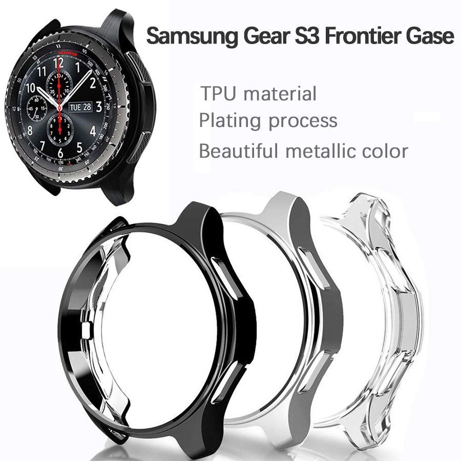 TPU Full Protective Watch Case For <font><b>Samsung</b></font> Galaxy Watch <font><b>46mm</b></font> Waterproof Sports Bumper Cover Case For <font><b>Samsung</b></font> Gear S3 Watch image