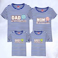 T Shirt 1piece Fashion Family Matching Outfits T shirt Clothes Summer Matching Family Clothes Mother Father Baby Short Sleeve
