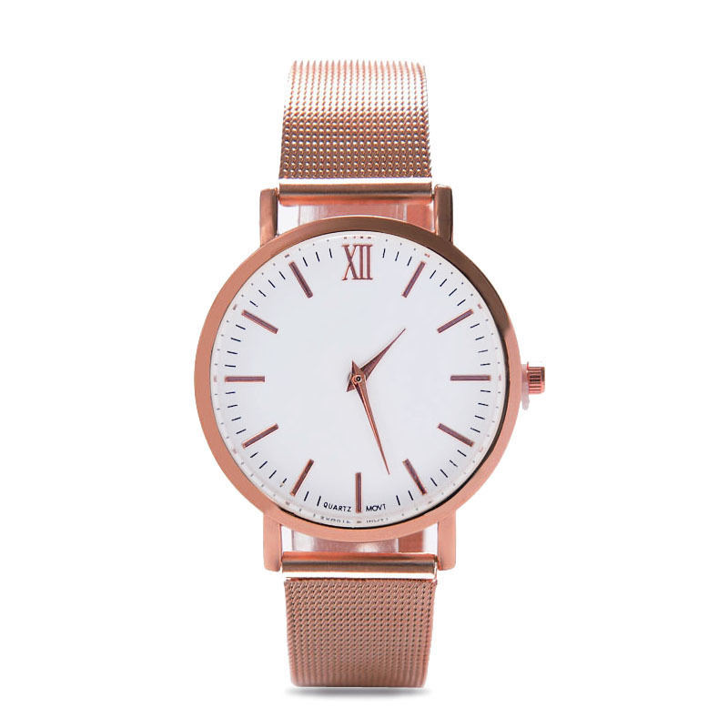2018 Men Women Fashion Stainless Steel Strap Analog Quartz Wrist Watch Luxury Simple Style Designed Bracelet Watches Women Clock