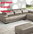 Pago de almohadas cojines de cuero cuero muestras muestra de muebles para el hogar sofá de cuero sofá de la sala genuino real utilizado