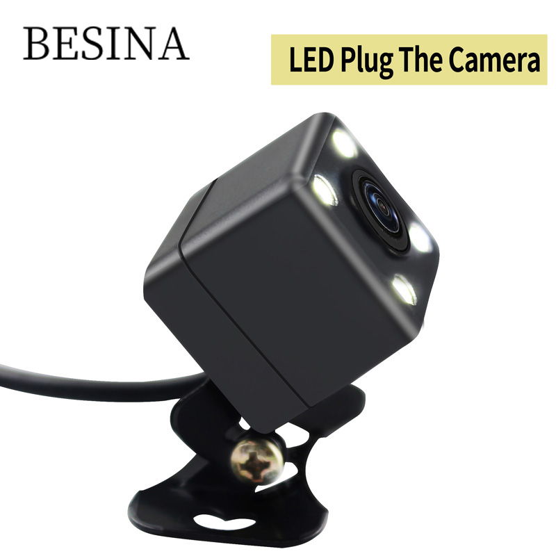 Besina 4 LED Night Vision Car Rear View Camera Universal Backup Parking Camera Waterproof 170 Wide Angle HD Color Image