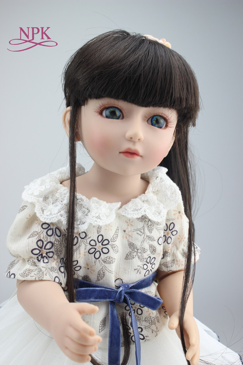 NPK BJD 18'' 45CM American Sweet Girl Doll Reborn Baby Dolls Full Handmade Full Vinyl Baby Toys Best Girls Gift DIY Bjd Doll realistic doll 18 inches cute doll handmade full vinyl american girl doll reborn baby kids gift for girl
