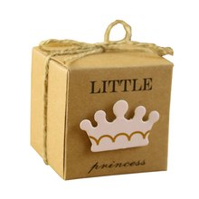 Urijk 10PCs Mini Kraft Paper Candy Box Wedding Birthday Party Decorations Packaging Cardboard Gift Box DIY Kids Baby Shower(China)