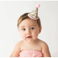1 2 Birthday Hat Half Glitter Girls Party Photo Shot Newborn