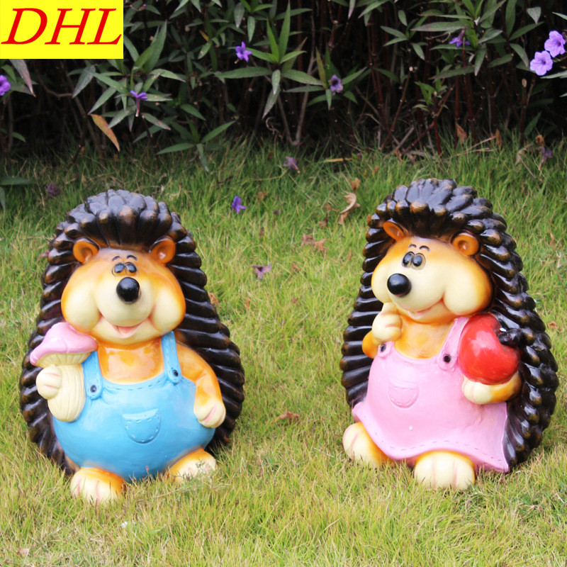 цены Simulation Hedgehog Animals Statue Resin Art Craft House Decoration Action Figure Collectible Model Toy L1972