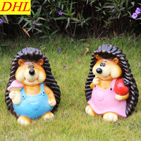 Simulation Hedgehog Animals Statue Resin Art Craft House Decoration Action Figure Collectible Model Toy L1972