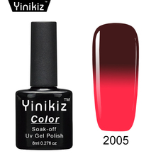 Yinikiz Temperature Nail Gel Polish Thermal Color Change Long Lasting Gel Nail Varnish Soak Off UV Gel Nail Polish Mother Day