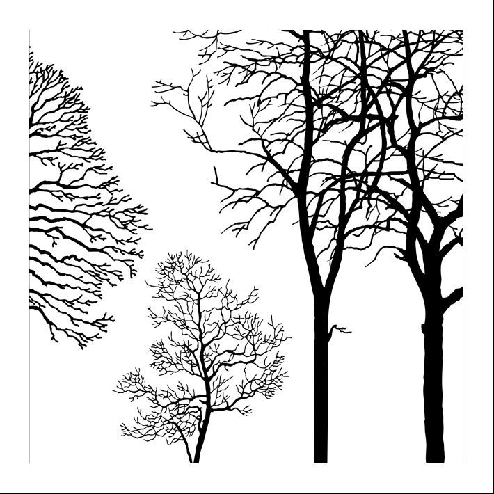 Free shipping Black White and Red tree Modern Wall Art Oil Painting ...