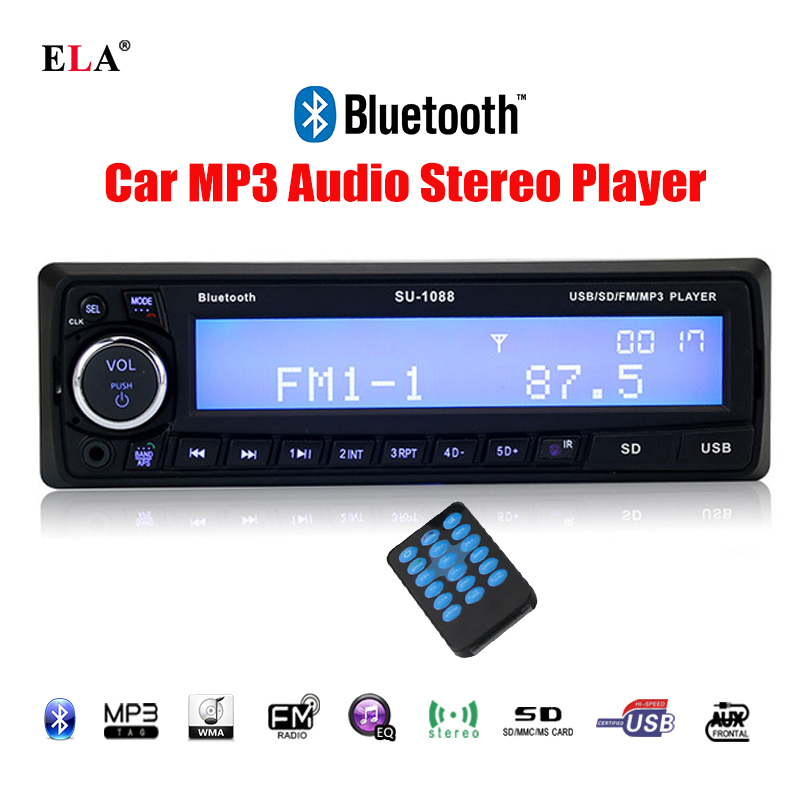 Car Radio Stereo Player Bluetooth Handfree Phone AUX IN MP3 FM USB 1 Din remote control
