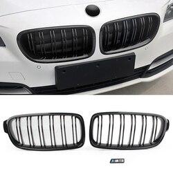 ABS czarny błyszczący przednia nerka grill grille dla BMW F30 F35 2012 2013 2014 w Kratki wyścigowe od Samochody i motocykle na