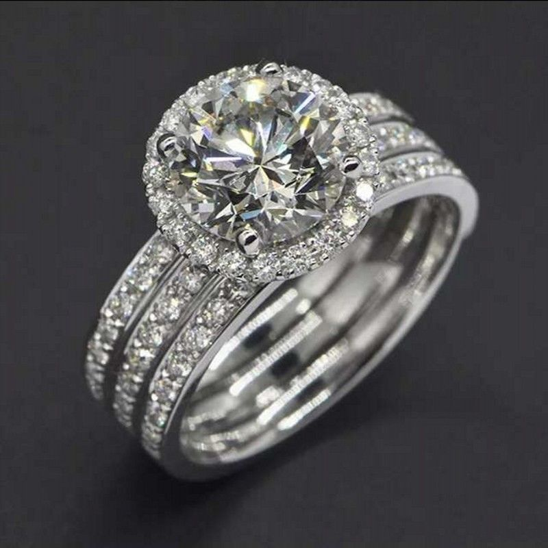 Diamonique Wedding Ring Sets Best 2017