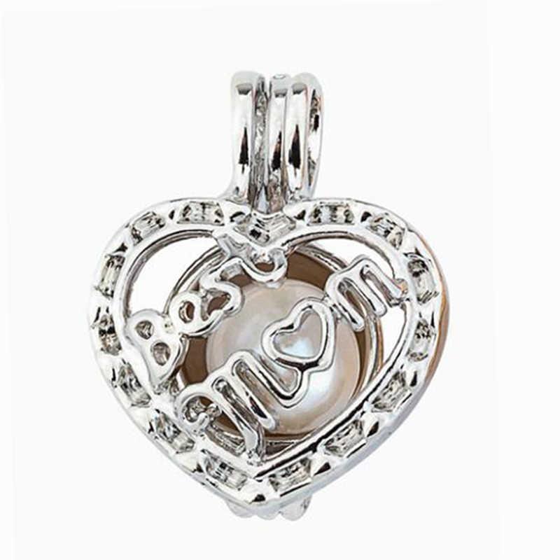 Жемчуг клетка ювелирных изделий клетка любовь Best мамин кулон эфирные масла диффузор медальон для Oyster жемчуг для женщин мужчин цепи