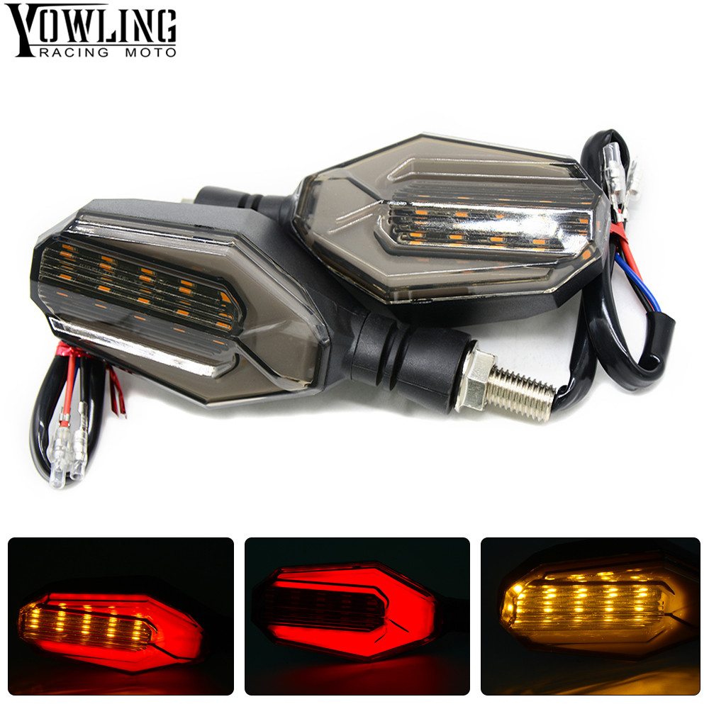 Motorcycle Flashing Lights Motorbike Turn Signal Moto Turn Indicators Flasher 15 SMD LED Blinker Amber Moto Accessory