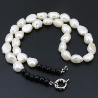 10 12mm Natural Freshwater Pearl Irregular Beads Strand Necklace For Women Diy Necklaces Elegant Chokers Jewelry