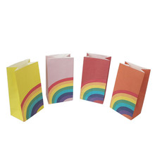 Rainbow Candy Bags Gift Paper Bags Sweet Candy Chocolate Storage Decor Supplies Wedding Party Favors(China)