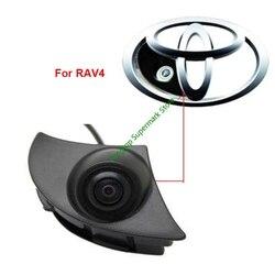 עמיד למים CCD מצלמה קדמי מכונית תצוגה עבור טויוטה קאמרי RAV4 הנצח לנד קרוזר פראדו סמל לוגו חניה מצלמה
