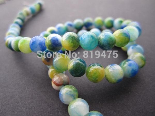 Céramique cylindre bleu tacheté 6 mm 20 pièces Céramique Perles