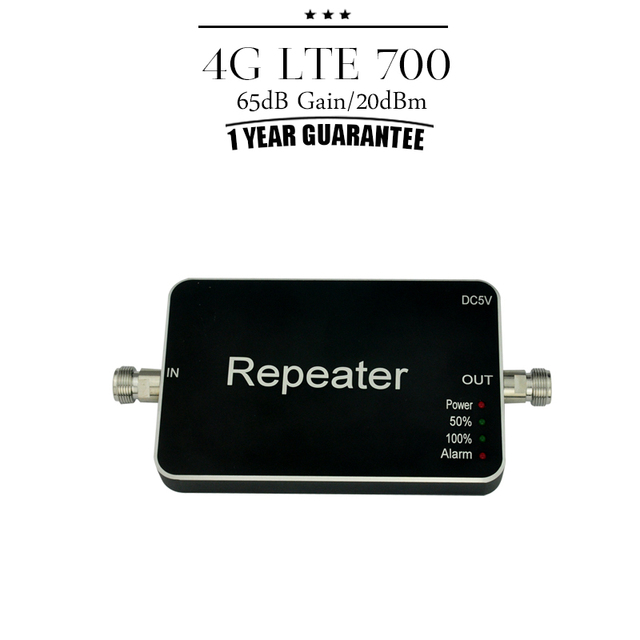 New! FDD LTE 4G 700mhz Cellular Booster ALC Function 4G Mobile Signal Repeater 4G LTE700 65dB Gain Cellphone Signal Amplifier