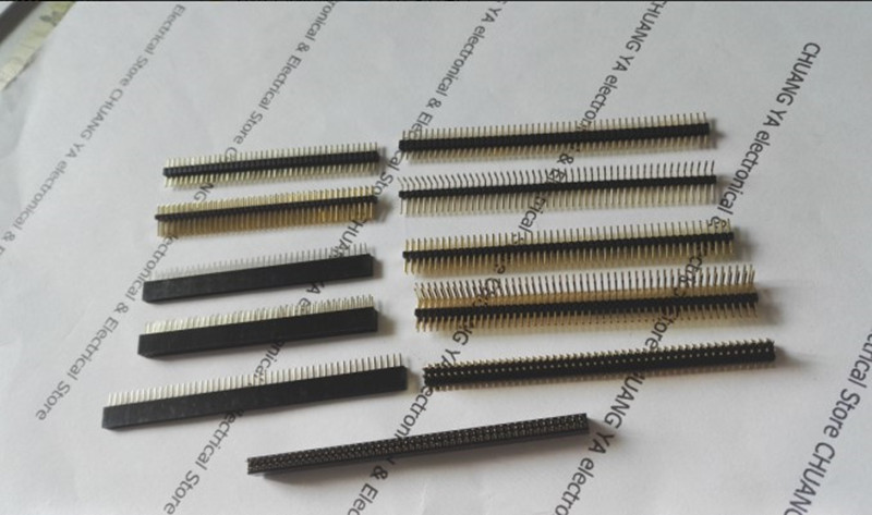 1.27mm 1*40P 50P 2*40Pin 50Pin Pin Header / Female Header / Single Or Double Row / Straight  Or Curved Needle / Gold-plated