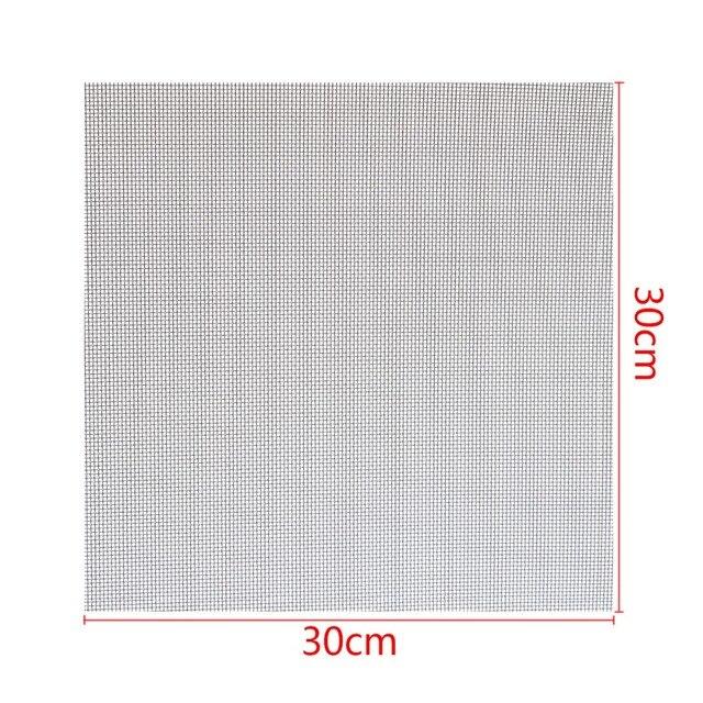 Mayitr 1 adet 304 paslanmaz çelik dokuma hasır filtrasyon #60 kumaş ekran filtresi 30x30cm