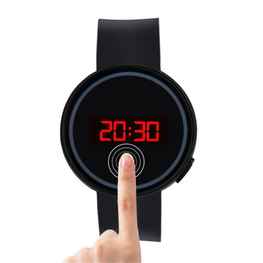 Mens Womens Rubber LED Watch Date Sports Bracelet Digital Wrist Watch Youth Fashion Electronic Watches Digital Clock