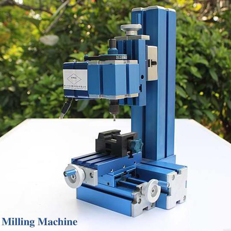 Metal Mini Milling Machine Micro DIY Woodworking Power Tool Student Modelmaking