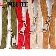 1Pc 3# 70cm Silver Open-end Metal Zipper for Sewing Jeans Jacket Zipper Cremalleras Down Zipper DIY Garment Accessories