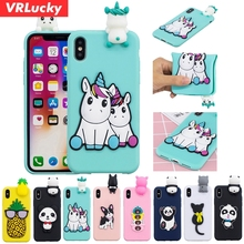 VRLucky Unicorn Panda Cat Pattern TPU Phone Case For Samsung S9 S8 Plus S6 S7 Edge Note 8 9 J3 J5 J7 A3 A5 A7 A6 A8 J4 J6 Case